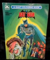 Batman A Giant Colouring Book by Golden - UNUSED - 1989